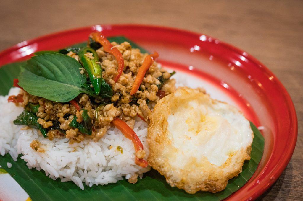 Krapow Kai Dow (Thai Basil Stir Fry over Rice)